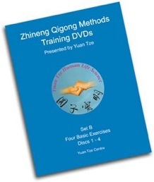 Zhineng Qi Gong Set B (4 DVDs): 4 Basic Exercises (Squats, Stretching Qi, Bow Body, Rotate Hips) $120